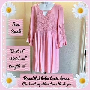 LOVE KUZA Light Apricot Shift Dress/Tunic S/M